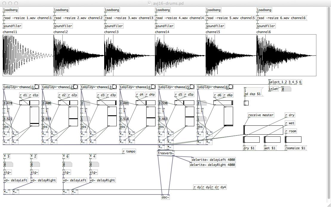 av16-drums - 6 Channel Drum Mixer